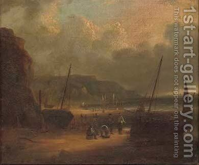 The end of a days fishing by (after) William Collins - Reproduction Oil Painting