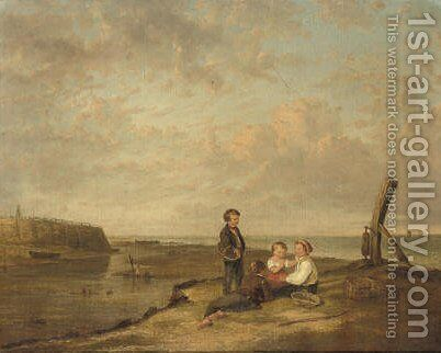 Shrimp boys at Cromer by (after) William Collins - Reproduction Oil Painting