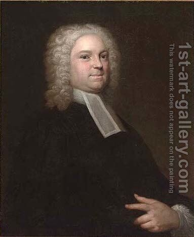 Portrait of a lawyer, half-length, in robes by (after) William Hogarth - Reproduction Oil Painting