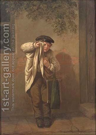 The mischievous schoolboy by (after) William Mulready - Reproduction Oil Painting