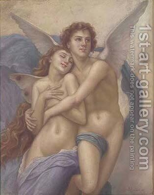 The abduction of Psyche 2 by (after) William-Adolphe Bouguereau - Reproduction Oil Painting