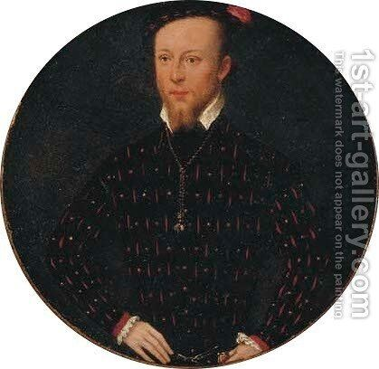 Portrait of the Comte Lamoral d'Egmont, Prince de Gavere (1522-1568) by (after)Frans, The Younger Pourbus - Reproduction Oil Painting