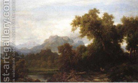 Idyllic Landscape by Alessandro Castelli - Reproduction Oil Painting