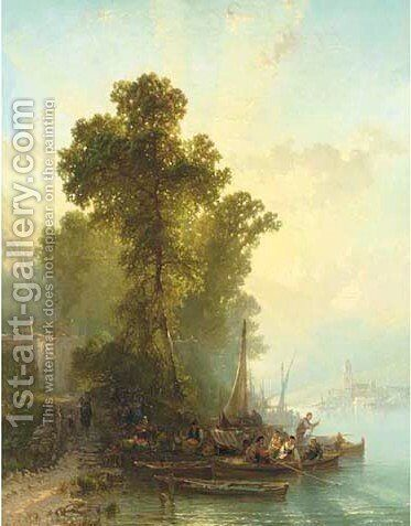 End of the Day, Maggiore by Alfred Eduard Agenor De Bylandt - Reproduction Oil Painting