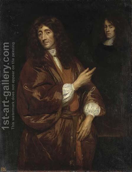 Portrait of a gentleman, traditionally identified as John Locke by Anglo-Dutch School - Reproduction Oil Painting