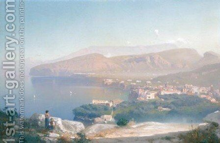 Veduta Di Sorrento by Cesare Uva - Reproduction Oil Painting