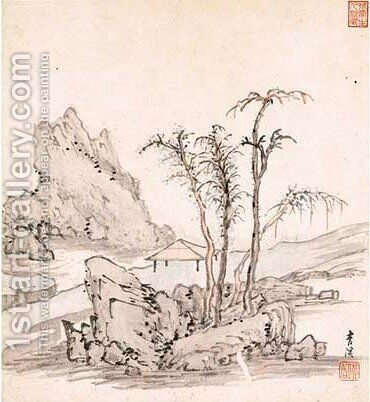 Landscape 2 by Cheng Zhengkui - Reproduction Oil Painting