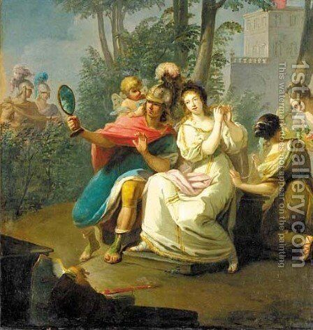The warriors in Armida's garden by Claudio Francesco Beaumont - Reproduction Oil Painting
