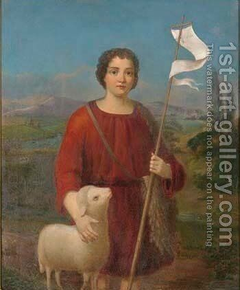 St. John the Baptist by Continental School - Reproduction Oil Painting