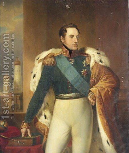 Portrait Of  Nikolaus I Russian Emperor (1796-1855) by Continental School - Reproduction Oil Painting