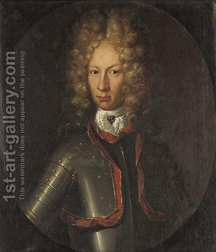 Portrait of Niels Rosenkrantz by Danish School - Reproduction Oil Painting