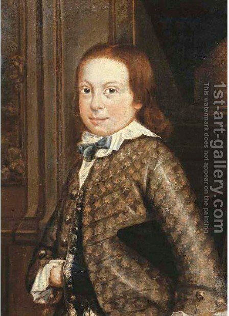 Portrait of a boy 2 by Dutch School - Reproduction Oil Painting