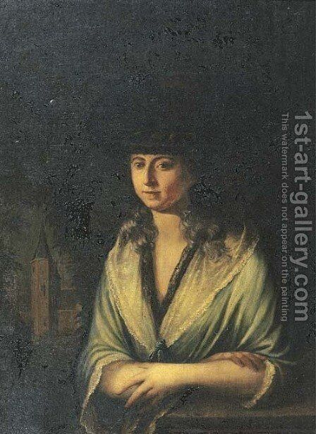 Portrait of Johanna Helena Toulon by Dutch School - Reproduction Oil Painting