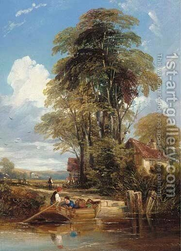 The ferry by Edmund Gustavus Muller - Reproduction Oil Painting