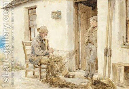 Fishermen by English School - Reproduction Oil Painting