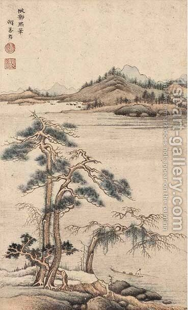 Landscape by Gu Yuanqing - Reproduction Oil Painting