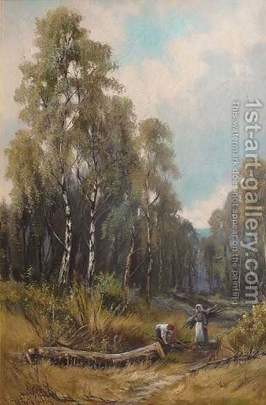 Spring time in the woods, Wall Grange by Henry Hadfield Cubley - Reproduction Oil Painting