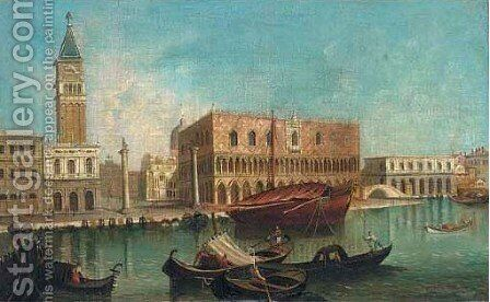 St Mark's Square and the Doge's Palace, Venice by Italian School - Reproduction Oil Painting