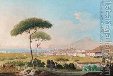 Veduta di Napoli dal Campo by Italian School - Reproduction Oil Painting
