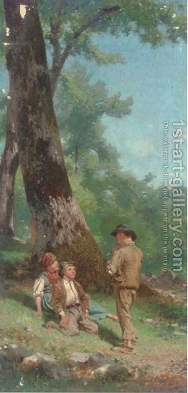 A good audience by Italian School - Reproduction Oil Painting