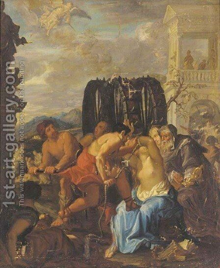 The Martydom of Saint Catherine by Italian School - Reproduction Oil Painting