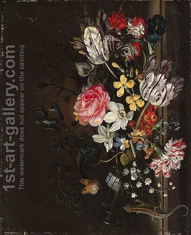 Flowers by Jacob Marrell - Reproduction Oil Painting
