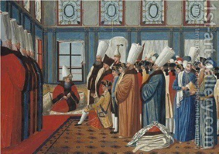 An ambassador presenting his credentials by Jacopo Leonardis - Reproduction Oil Painting