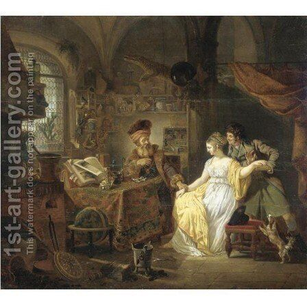The Visit To The Alchemist by Jean-Louis Demarne - Reproduction Oil Painting