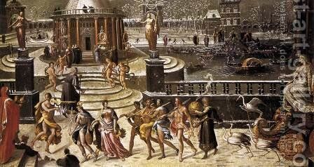 The Triumph of Winter c. 1568 by Antoine Caron - Reproduction Oil Painting