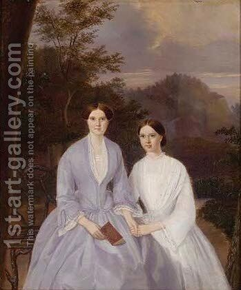 Portrait of Mmes William and John Barber by Miss Morrath - Reproduction Oil Painting