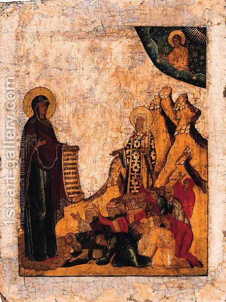 The prayer by Mother Of God Bogoliubskaia - Reproduction Oil Painting