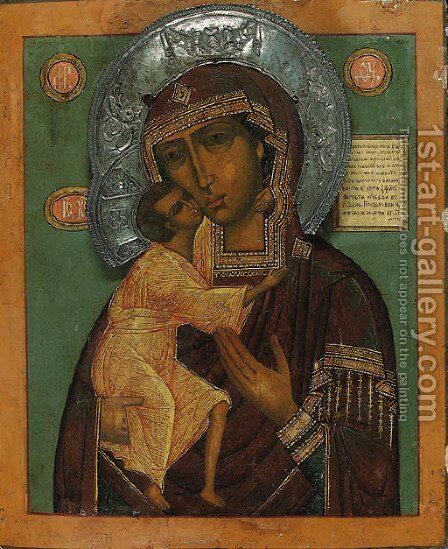 The Virgin and Child by Mother Of God Feodorovskaia - Reproduction Oil Painting