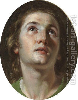 Head of a Saint by Neapolitan School - Reproduction Oil Painting
