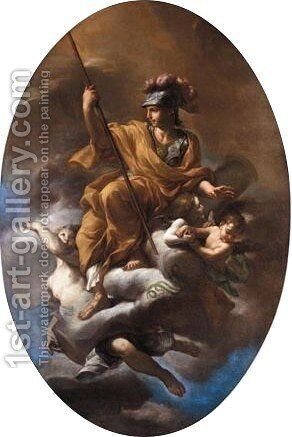 Allegorical Figure Of Fortitude by Neapolitan School - Reproduction Oil Painting