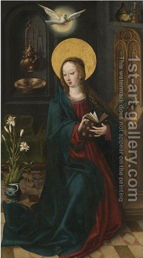 The Virgin Annunciate by South Netherlandish School - Reproduction Oil Painting