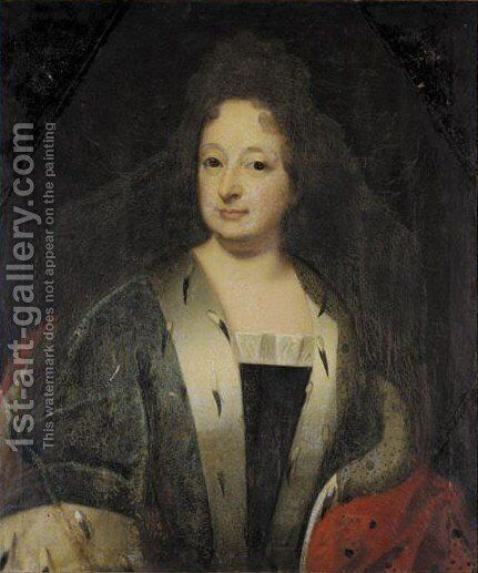 Portrait Of The Electress Sophie Of Hanover by (after) Andreas Scheits - Reproduction Oil Painting