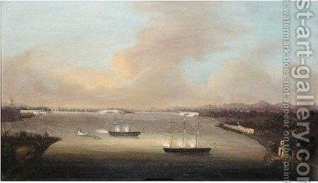 Bombardment Of The Barrier Forts by (after) Fong Gua Of Macao - Reproduction Oil Painting