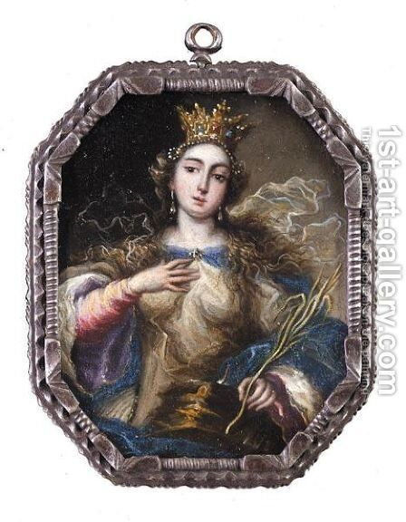 Saint Catherine by (after) Francisco Rizzi - Reproduction Oil Painting