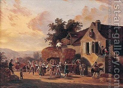Villagers Dancing Before A Haywain by (after) Jean-Francois Demay - Reproduction Oil Painting