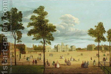 View Of Horseguards Parade From St James's Park by (after) John Paul - Reproduction Oil Painting