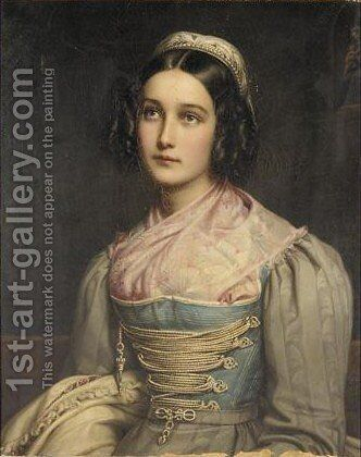 Portrait Of Helene Sedelmayer by (after) Joseph Karl Stieler - Reproduction Oil Painting