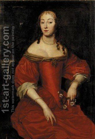 Portrait Of A Lady by (after) Louise Hollandine - Reproduction Oil Painting