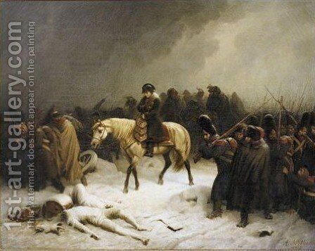Napoleon's Retreat From Russia by Adolf Northen - Reproduction Oil Painting