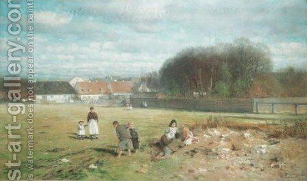 On The Common by Anders Andersen-Lunsby - Reproduction Oil Painting