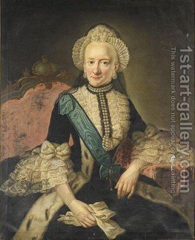 Portrait Of Princess Therese Nathalie Of Brunswick (1728-1778) by Anna Rosina De Gasc - Reproduction Oil Painting