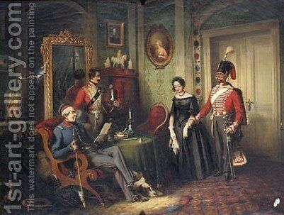 The Marriage Arrangement by Carl Rechlin - Reproduction Oil Painting