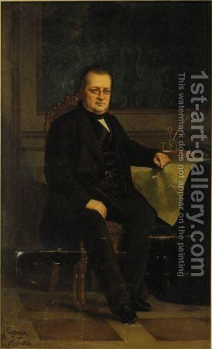 Portrait Of Count Camillo Benso Di Cavour (1810-1861) by Giovanni Giani - Reproduction Oil Painting