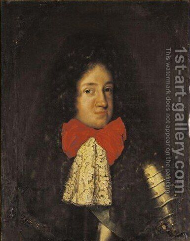 Portrait Von Konig Friedrich I Von Preussen by Jacques Vaillant - Reproduction Oil Painting