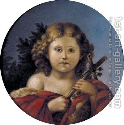 St. John The Baptist As A Boy by Marie Von Mecklenburg-Strelitz - Reproduction Oil Painting
