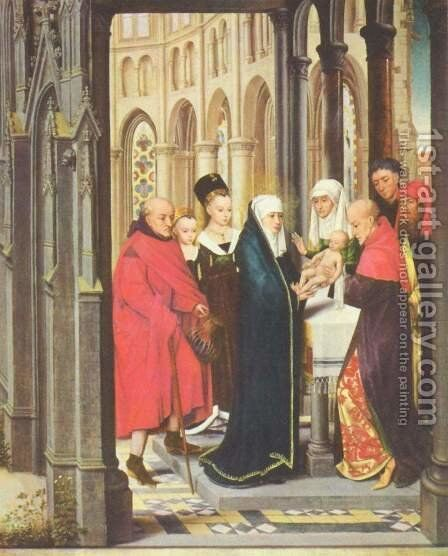 Presentation in the Temple by (after) Rogier Van Der Weyden - Reproduction Oil Painting